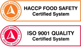 HACCP Food Safety Certified Logo and ISO 9001 Quality Certified System
