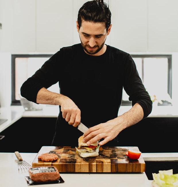 Alejandro Cancino Cooking vEEF Burger