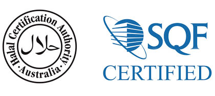 Halal and SQF Certified Logo